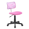 High-back Adjustable Ergonomic Mesh Swivel Computer Office Desk Task Chair, Flower Pink