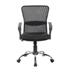 Mid back mesh office chair with lumber, Jet Black