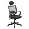 High Back Mesh Executive & Managerial Computer Desk Swivel Office Chair with Headrest, Jet Black