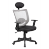 High Back Mesh Executive & Managerial Computer Desk Swivel Office Chair with Headrest, Graphite Gray + Jet Black