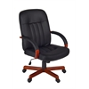 Ethos Swivel Chair- Cherry/Black