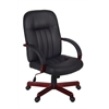Ethos Swivel Chair- Mahogany/Black