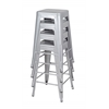 Rivet Stack Stool (4 pack)- Grey
