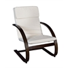Mia Bentwood Reclining Chair- Mocha Walnut/ Beige