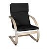 Mia Bentwood Reclining Chair- Natural/ Black