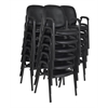 Ace Vinyl Stack Chair (18 pack)- Black