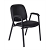 Ace Vinyl Stack Chair- Black