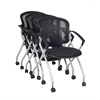 Cadence Nesting Chair (4 pack)- Black