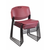 Zeng Stack Chair (4 pack)- Burgundy