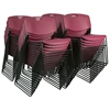 Zeng Stack Chair (50 pack)- Burgundy