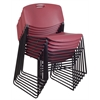Zeng Stack Chair (8 pack)- Burgundy