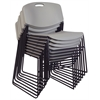 Zeng Stack Chair (8 pack)- Grey
