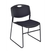 Zeng Padded Stack Chair- Black