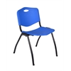 'M' Stack Chair- Blue