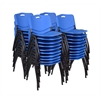 'M' Stack Chair (40 pack)- Blue