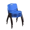'M' Stack Chair (4 pack)- Blue