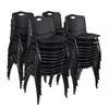 'M' Stack Chair (40 pack)- Black