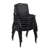 'M' Stack Chair (8 pack)- Black