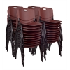 'M' Stack Chair (40 pack)- Burgundy