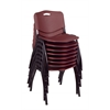 'M' Stack Chair (8 pack)- Burgundy