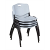 'M' Stack Chair (4 pack)- Grey