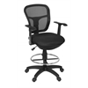 Harrison Swivel Stool- Black
