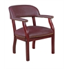 Ivy League Captain Chair- Burgundy