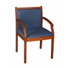 Regent Side Chair- Cherry/ Blue