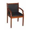 Regent Side Chair- Cherry/ Black