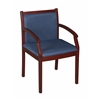 Regent Side Chair- Mahogany/ Blue