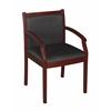 Regent Side Chair- Mahogany/ Black