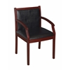 Regent Vinyl Side Chair- Mahogany