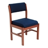 Belcino Leg Base Side Chair- Cherry/ Blue