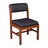 Belcino Leg Base Side Chair- Cherry/ Black