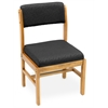 Belcino Leg Base Side Chair- Medium Oak/ Black