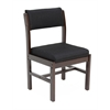 Belcino Leg Base Side Chair- Mocha Walnut/ Black
