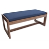 Belcino Double Seat Bench- Cherry/ Blue