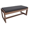 Belcino Double Seat Bench- Cherry/ Black