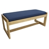 Belcino Double Seat Bench- Medium Oak/ Blue
