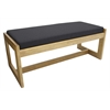 Belcino Double Seat Bench- Medium Oak/ Black