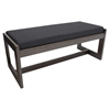 Belcino Double Seat Bench- Mocha Walnut/ Black