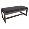 Belcino Double Seat Bench- Mocha Walnut/ Black