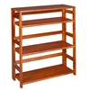 "Flip Flop 34"" High Folding Bookcase- Cherry"