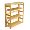 "Flip Flop 34"" High Folding Bookcase- Medium Oak"