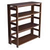 "Flip Flop 34"" High Folding Bookcase- Mocha Walnut"