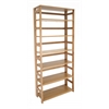 "Flip Flop 67"" High Folding Bookcase- Medium Oak"