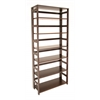 "Flip Flop 67"" High Folding Bookcase- Mocha Walnut"