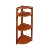 "Flip Flop 34"" High Corner Folding Bookcase- Cherry"