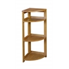 "Flip Flop 34"" High Corner Folding Bookcase- Medium Oak"