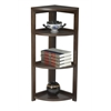 "Flip Flop 34"" High Corner Folding Bookcase- Mocha Walnut"